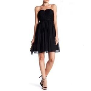 J. CREW Nadia Strapless Bridesmaid Dress Black 0